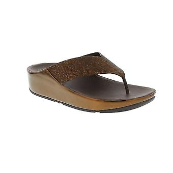 FitFlop Crystall - Bronze (Textile) Womens Sandals