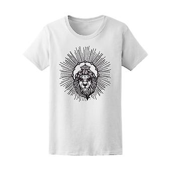 Heraldic Lion Head With Crown Tee Women's -Image by Shutterstock