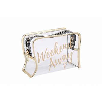 CGB Giftware Willow And Rose Weekend Away Clear Wash Bag