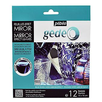 Pebeo Gedeo Mirror Effect Leaves (Blue)