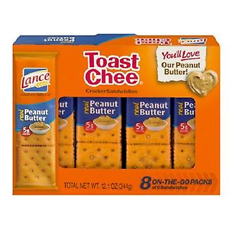 Lance Toast Chee Peanut Butter Sandwich Crackers 2 Box Pack