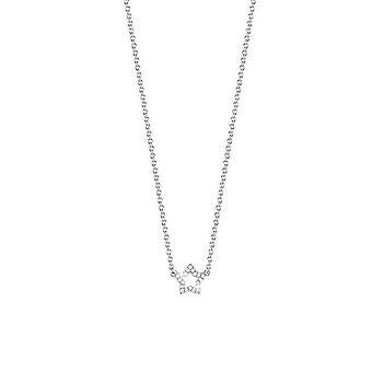 ESPRIT women's chain necklace silver cubic zirconia Twinklet Glam ESNL92454A420