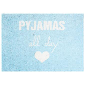 Waschbare Matte Vorleger Pyjamas all day mint blue 50x70 cm