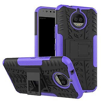 Morceau de cas 2 hybride violet extérieur SWL pour Motorola Moto G5S plus Sac housse