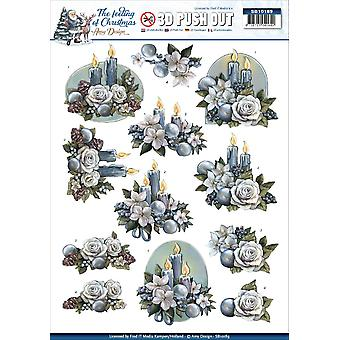 Find It Amy Design The Feeling Of Christmas Punchout Sheet-Christmas Candles