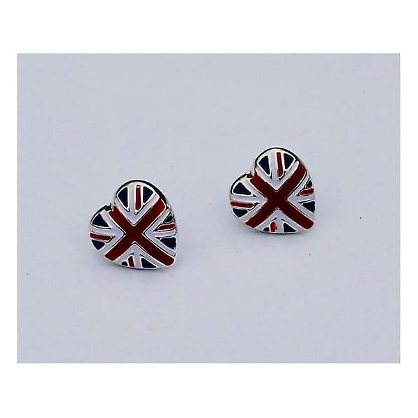 Union Jack Wear Union Jack Heart Earrings