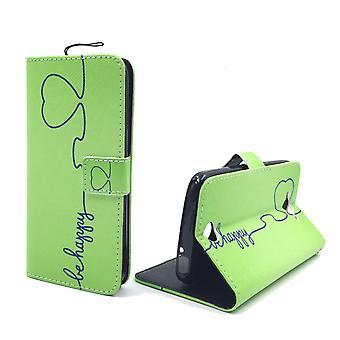 Handyhülle Tasche für Handy Apple iPhone 6 / 6s Be Happy Grün