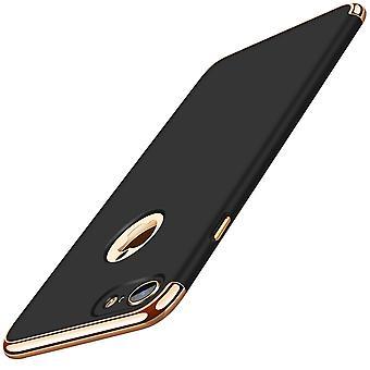 Handy Hülle Schutz Case für Apple iPhone 6s Plus Bumper 3 in 1 Cover Schwarz