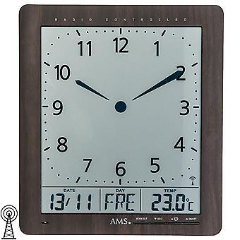 Настенные часы радио часы отображения времени, Дата, день недели,