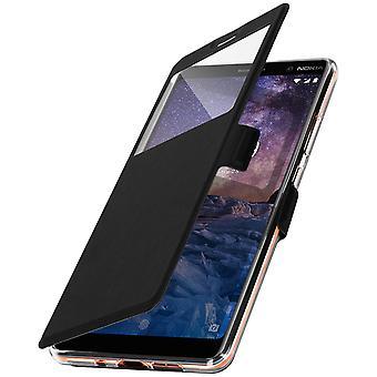 Flip Case mit Fenster für Nokia 7 Plus von Colorfone - schwarz