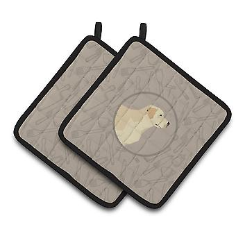 Labrador Retriever In the Kitchen Pair of Pot Holders