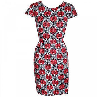 Oui Women's Cap Sleeve Printed Sun Dress