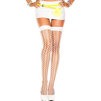 Stockings With Knitted Look-White