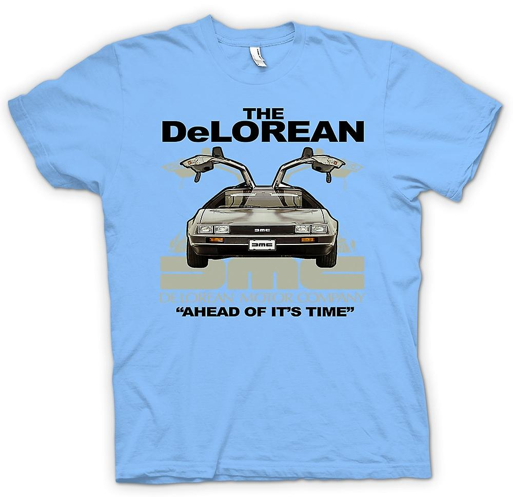 Mens T-shirt - DeLorean - Ahead Of Its Time