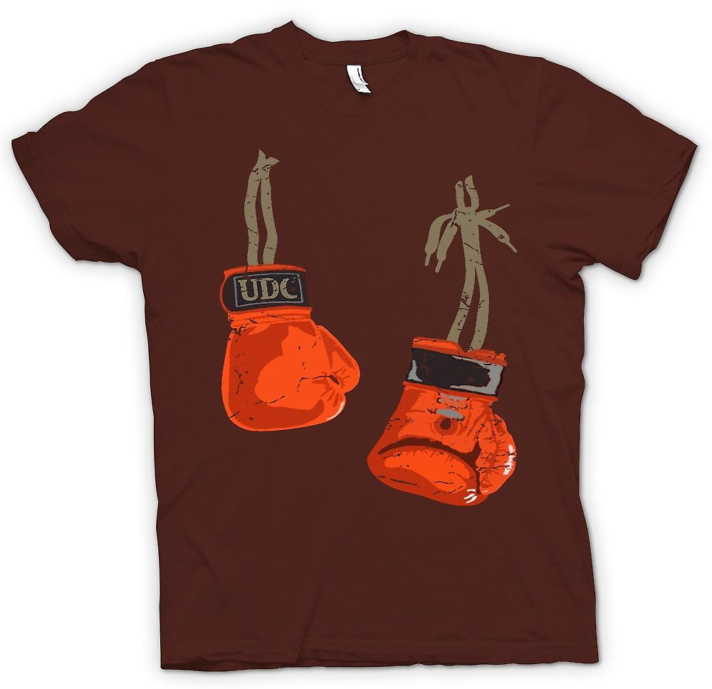 Mens T-shirt - Hanging Boxing Gloves - Cool