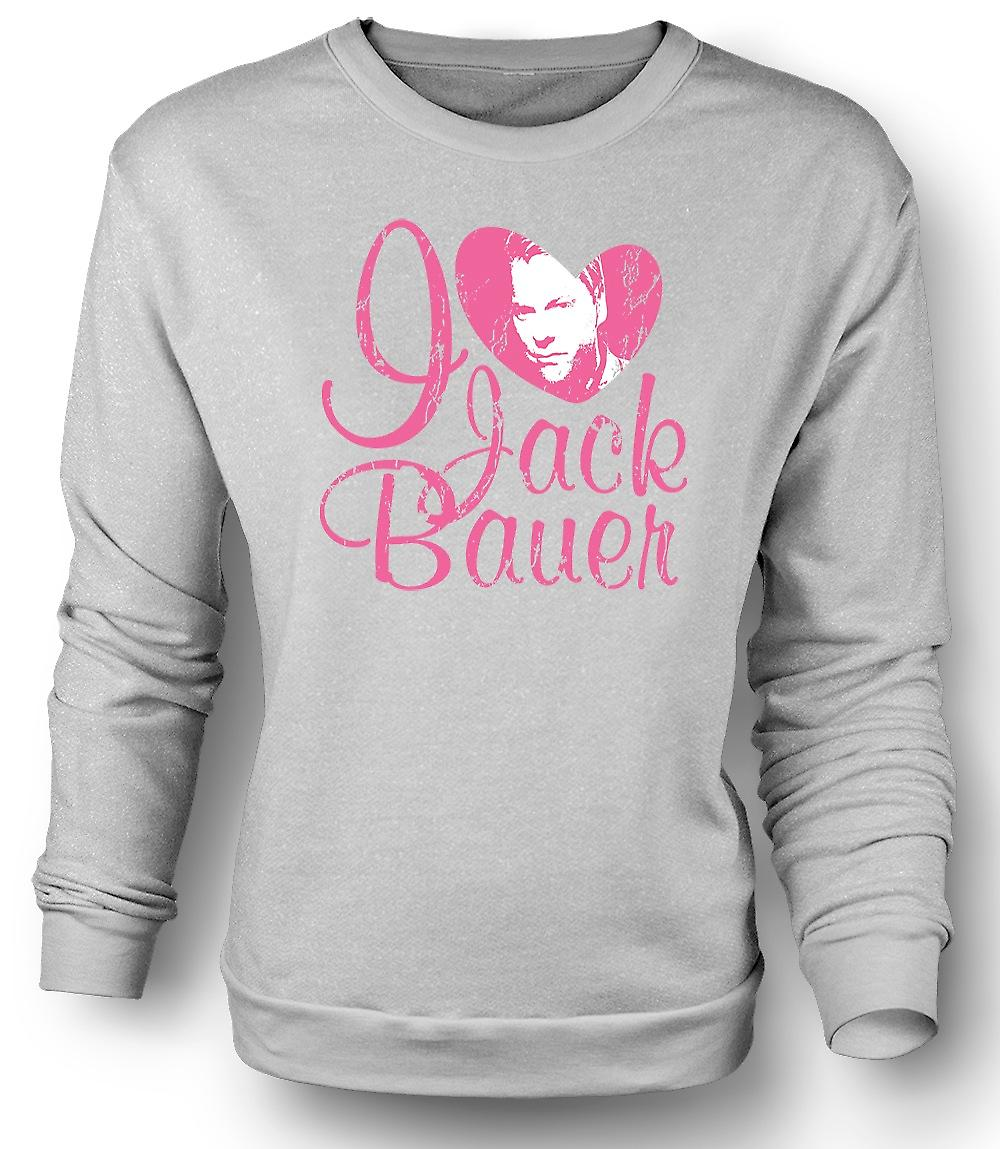 Mens Sweatshirt que j'aime Jack Bauer 24 - Keifer - Tv - Movie