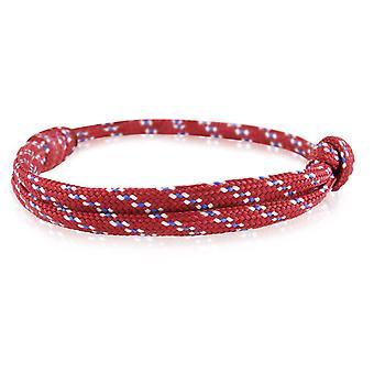 Skipper bracelet surfeur bande nœud maritimes bracelet en nylon gris/bleu/Bordeaux 6743