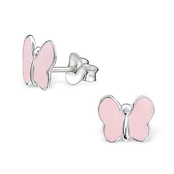 Butterfly - Epoxy Colour + 925 Sterling Silver Colourful Ear Studs - W983X