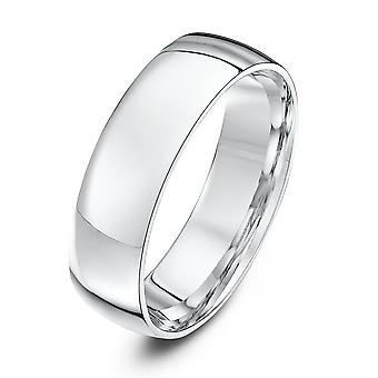 Star Wedding Rings Platinum Light Court Shape 6mm Wedding Ring