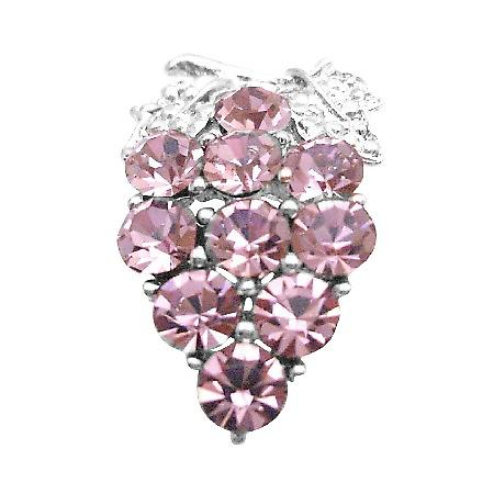 Crystals Prom Jewelry Lite Rose Crystals Brooch Pin for Cakes