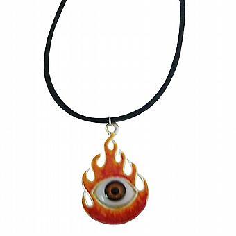 Brændende øje halskæde med sort akkord