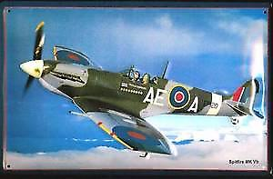 Spitfire MkVb embossed metal sign
