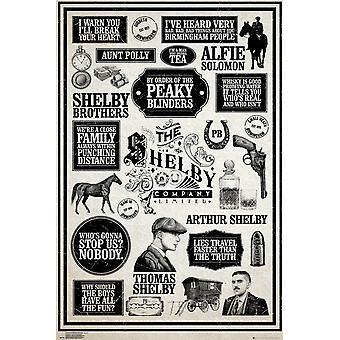 Abgemagerter Scheuklappen Infografik Maxi Poster 61x91.5cm