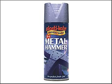 Plasti-kote Metal Paint Hammer Spray Silver 400ml
