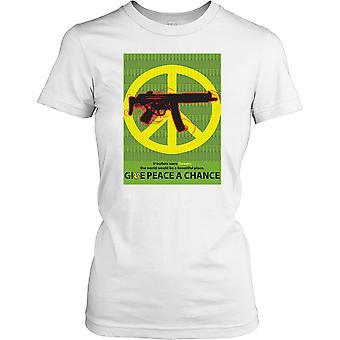Give Peace a Chance - Anti War Poster Ladies T Shirt