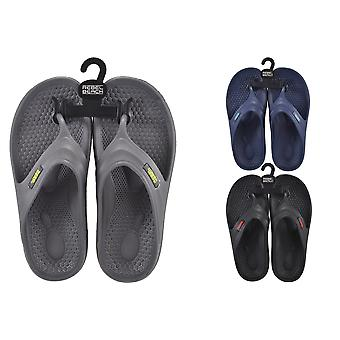 Mens EVA Flip Flops Size 8 - 1 Pair Assorted Colours