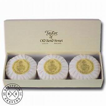 Taylor of Old Bond Street Sandalwood Hand Soap Gift Box (3 x 100g)