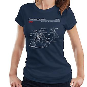 NASA Apollo Control Systeme Blueprint Damen T-Shirt