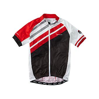 Madison Red Stripes 2016 Sportive Full-Zip Short Sleeved Cycling Jersey