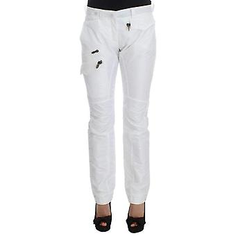 Ermanno Scervino White Nylon Padded Slim Fit Cargo Pants -- SIG3089712