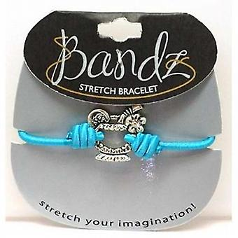 TOC Bandz Acrylic Set Cocktail Charm Blue Elasticated Bracelet 6