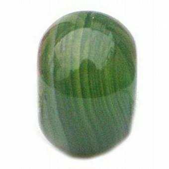TOC BEADZ Green 9mm Slide-On and Slide-Off Bead