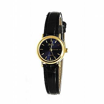 Refleks sort Crocodile effekt Navy Dial damer kjole Watch 101062LT