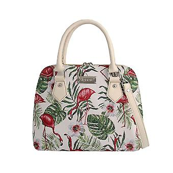 Flamingo top-handle shoulder bag by signare tapestry / conv-flam