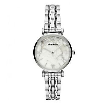 Emporio Armani Ar11170 White Dial Stainless Steel Ladies Watch