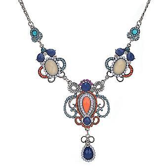 Ladies farverige krystal Aztec stil juvel erklæring Swarovski krystal krave halskæde