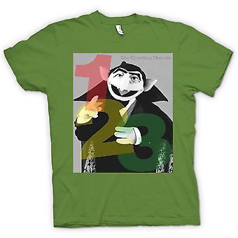 Womens T-shirt - Counting Dracula - Sesame Street Inspired
