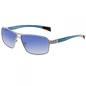 Breed Meridian Titanium and Carbon Fiber Polarized Sunglasses - Silver/Blue