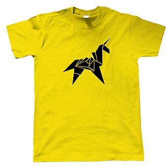 Origami Unicorn Mens Sci-Fi Movie Inspired T-Shirt