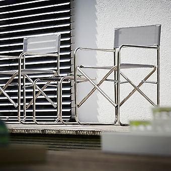 Jan Kurtz Regiesessel rot Aluminium/Kunststoffgewebe Regiestuhl