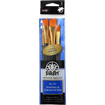 Folkart Angle Brush Set-5/Pkg 44277