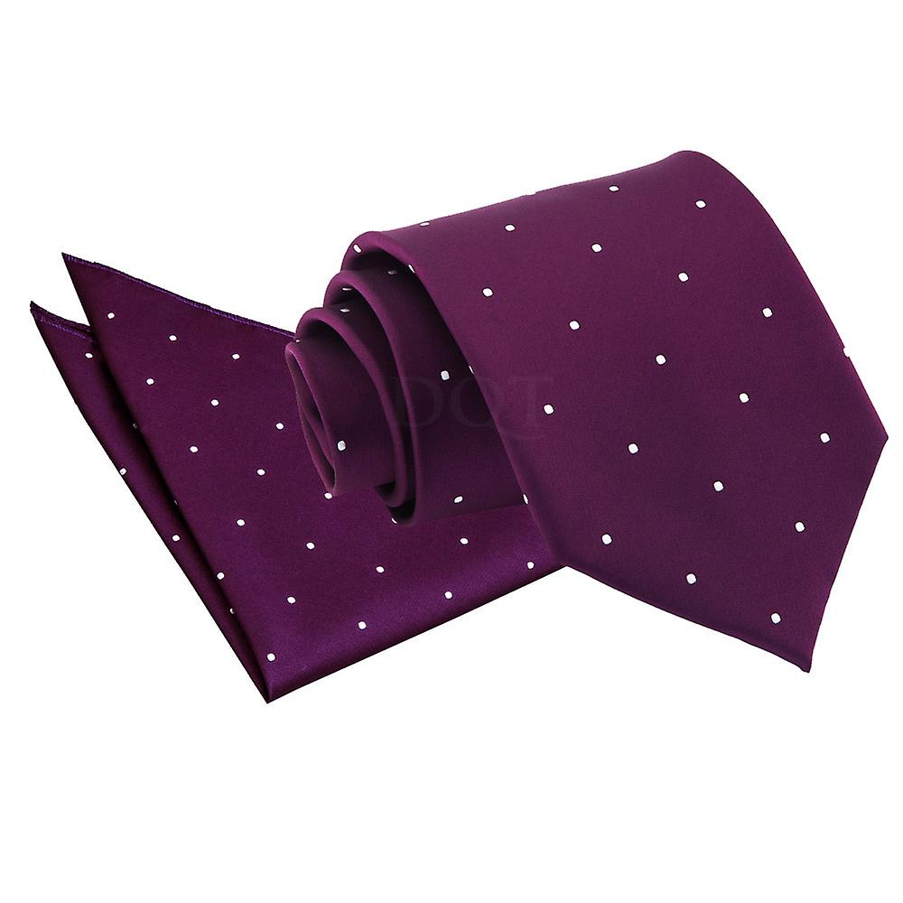Pin Dot Purple Tie 2 pc. Set
