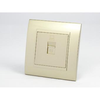 I LumoS AS Luxury Gold Plastic Arc Single Internet Socket