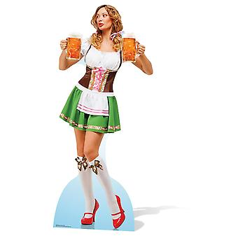 Oktoberfest Beer Babe Lifesize Cardboard Cutout / Standee / Stand Up