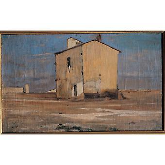 Fattori Giovanni Sardinië 1890-1900 19e eeuw olieverf op Canvas Italië privé collectie Everett CollectionMondadori Portfolio Poster afdrukken