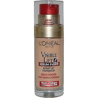 3x L'Oreal Paris Visible Lift Serum Foundation 120 Rosy Porcelain 30ml Sealed